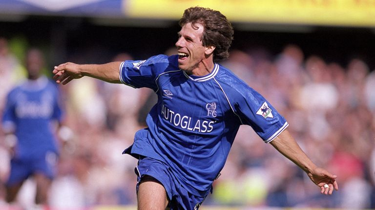 Gianfranco Zola during his playing days with Chelsea
