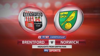 Brentford 0-3 Norwich