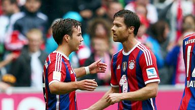 Mario Gotze (left): Netted a brace for Bayern