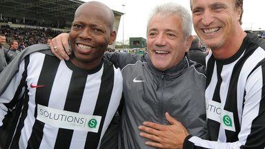 Tino Asprilla (left) backing Falcao to shine at United