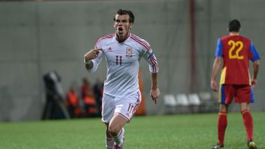 Gareth Bale: Celebrates his equaliser