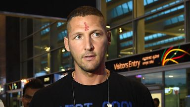 Marco Materazzi arrives in Bangalore after joining Chennaiyian FC in the Indian Super League