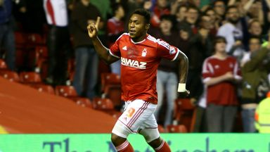 Britt Assombalonga: On target for Forest at Wolves
