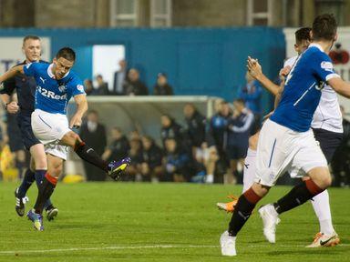 Ian Black fires home Rangers' second goal