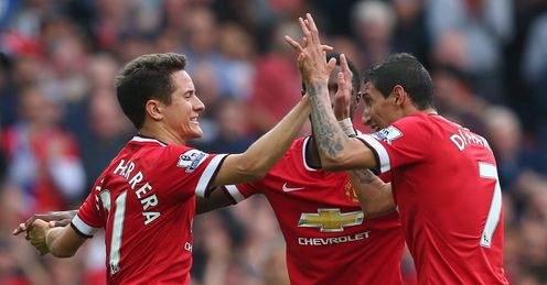 Ander Herrera (l) and Angel di Maria (r): Both on the scoresheet
