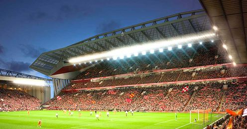 Anfield: Would become the third biggest ground in the Premier League
