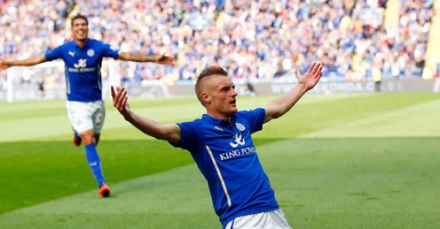 Jamie Vardy: Outstanding for Leicester against Manchester United