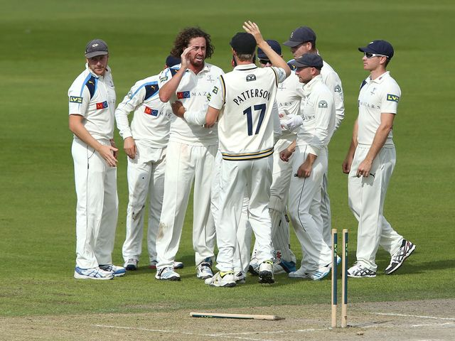 Yorkshire celebrate during their victory over Lancashire
