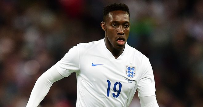 Danny Welbeck: New Gunner in action during the friendly between England and Norway