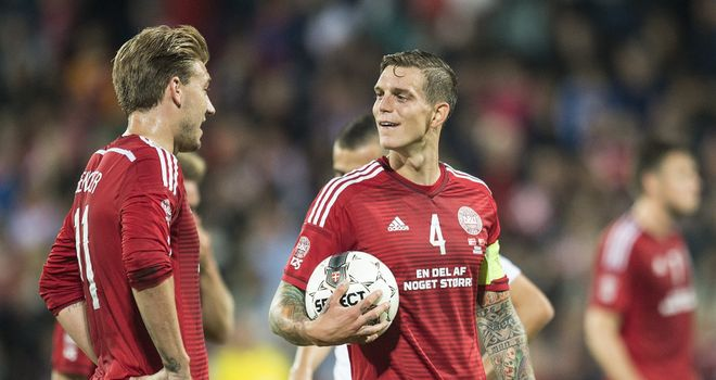 Daniel Agger: Scored in Denmark's defeat