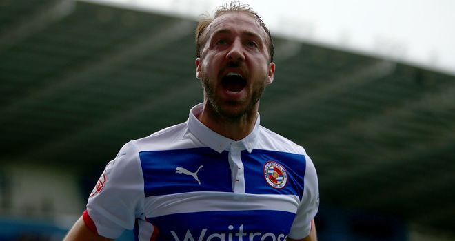 Glenn Murray: Celebrates his first goal for Reading