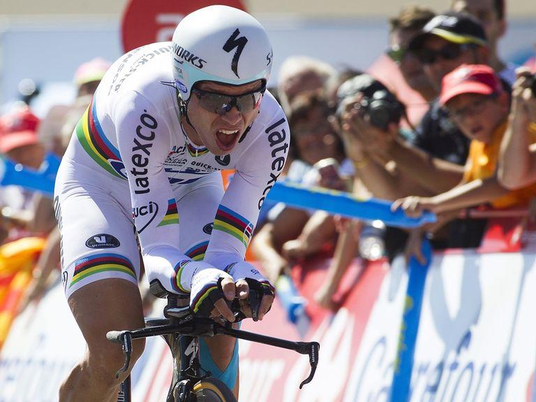 Tony Martin defeated Fabian Cancellara by 11 seconds