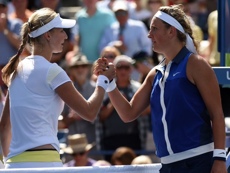 Ekaterina Makerova beats Victoria Azarenka in the US Open quarter-finals
