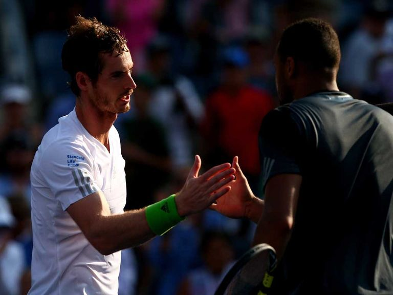 Andy Murray saw of the challenge of Tsonga on Monday