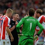Stoke: Surround referee after conceding penalty