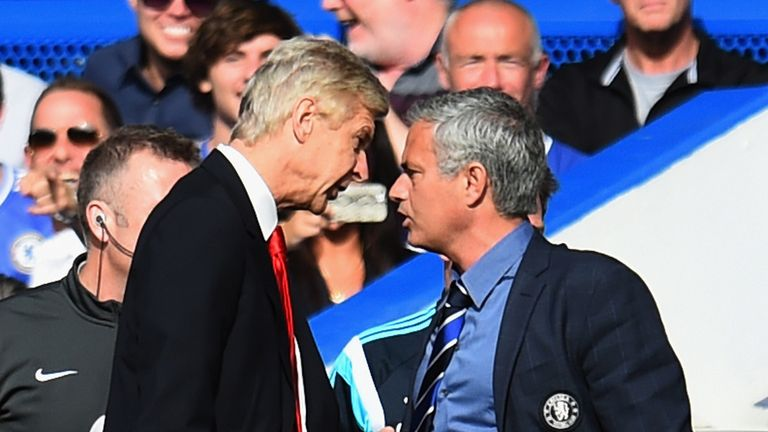 Image result for jose mourinho vs arsene wenger