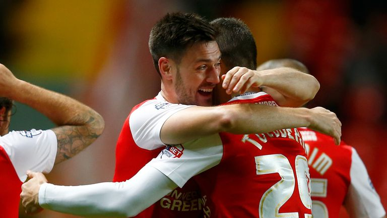 Johnnie Jackson: Celebrates his winning goal against Bolton