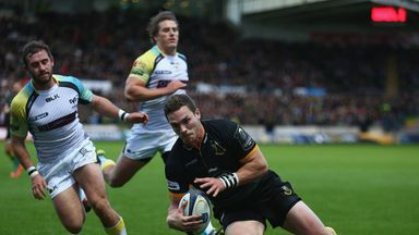 George North: Crossed four times for Northampton