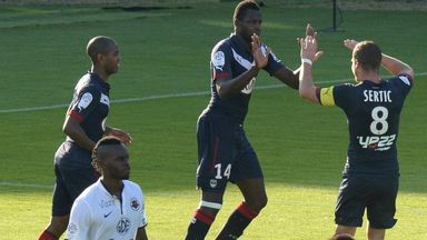 Cheick Diabate celebrates Bordeaux's lead