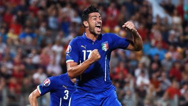 Graziano Pelle: Goal on Italy debut