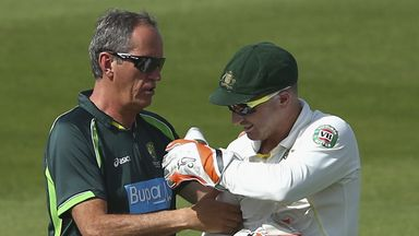 Brad Haddin suffered shoulder injury and is doubt for India Test series