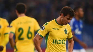 Sporting Lisbon: Cedric Soares dejected after loss at Schalke