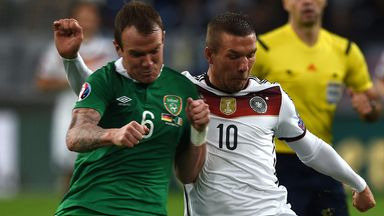 Glenn Whelan (left): Suffered the injury against Germany
