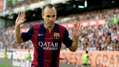 Andres Iniesta: Doubtful for Valencia clash