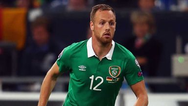 David Meyler: Hull defender in action for the Republic of Ireland against Germany