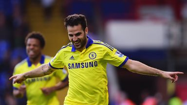 Cesc: Fabregas celebrates his first, and Chelsea