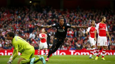 Abel Hernandez: Celebrates after putting Hull ahead to make it 2-1