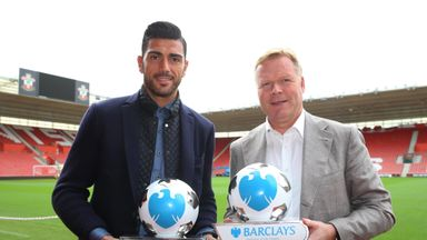 Pelle and Koeman: With their September awards at St Mary