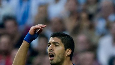 Luis Suarez has struggled in front of goal for Barcelona.