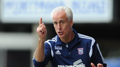 Ipswich Town manager Mick McCarthy during the game against Norwich City