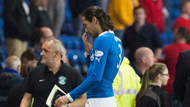 Bilel Mohsni: Rangers defender leaves the field at half-time at Ibrox