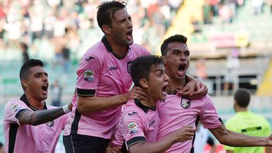 Giancarlo Gonzalez celebrates his winning goal against Cesena