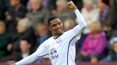 Samuel Eto'o: Set to leave Everton for Italy