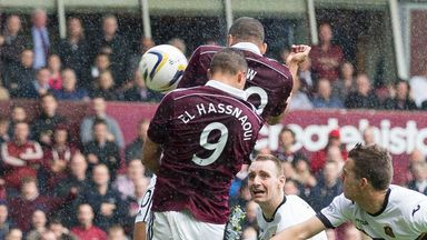 Osman Sow: Heads Hearts in front against Dumbarton