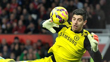 Thibaut Courtois: The Belgian was named man-of-the-match by Gary Neville on Super Sunday.