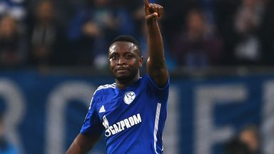 Chinedu Obasi: Celebrates after equalising for Schalke