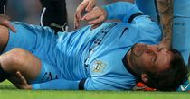 David Silva will miss Sunday's Manchester derby after suffering a knee injury in the Capital One Cup in midweek
