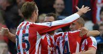Jon Walters celebrates his winner for Stoke