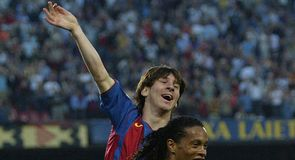 The best photos since Lionel Messi made his Barcelona debut 10 years ago