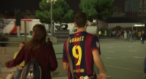Barca fans excited by Suarez