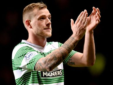 John Guidetti scored a hat-trick in Celtic's thumping victory