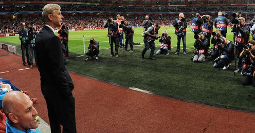Arsene Wenger: All eyes on the Arsenal manager before kick-off
