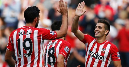 Graziano Pelle and Dusan Tadic: Both made Team of the Week