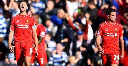 Steven Gerrard: Furious after conceding at QPR