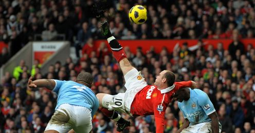 Rooney's incredible late overhead winner against City in 2011 helped inspire them to the title.