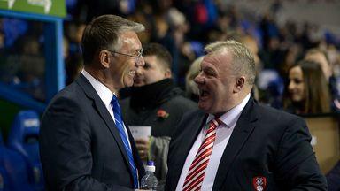 Steve Evans (r): Rotherham facing crucial few weeks